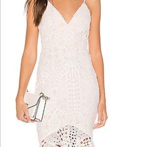 Dresses & Skirts - Tina Ruffle Midi Dress in White